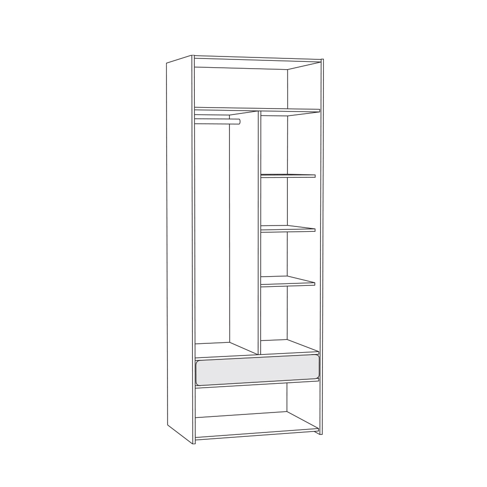 Элен 200 Шкаф для одежды - 1