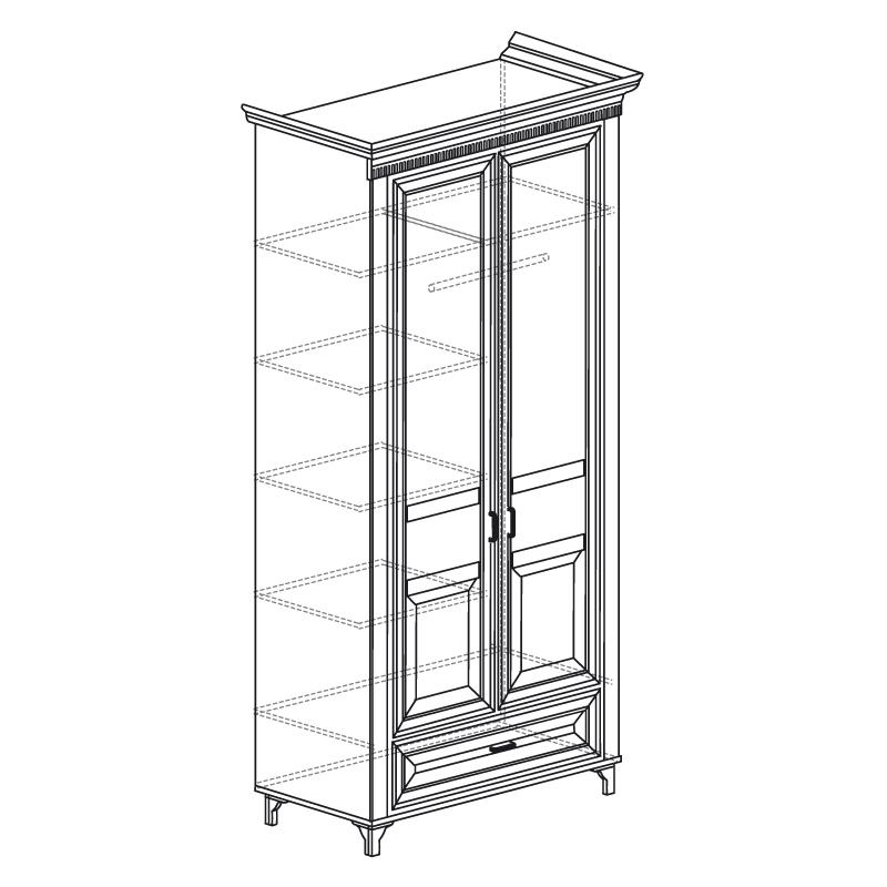 Марлен 471 Шкаф для одежды 2-дв. - 1