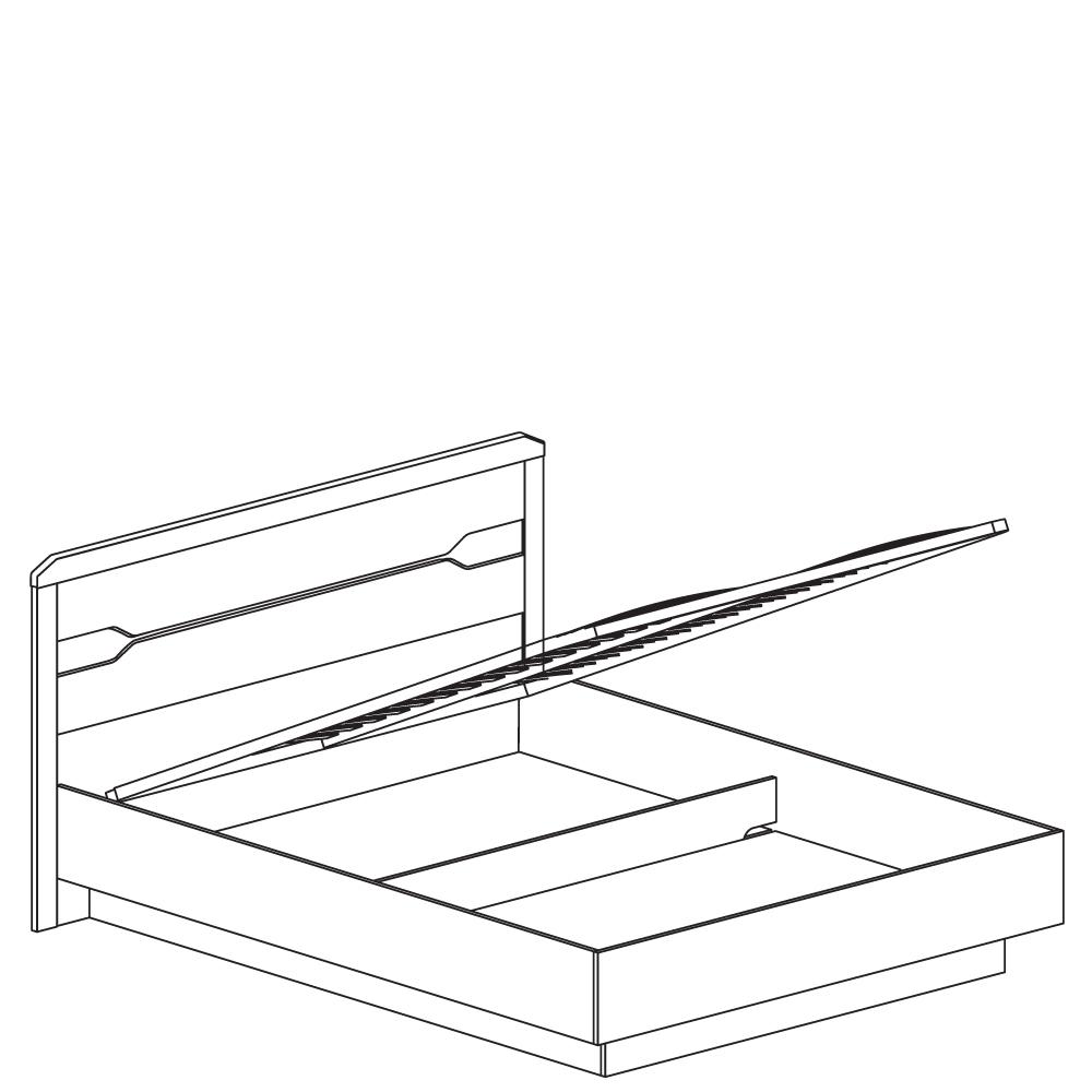 Ронда №316 Кровать 1600 с мягким изголовьем и подъемным механизмом - 2