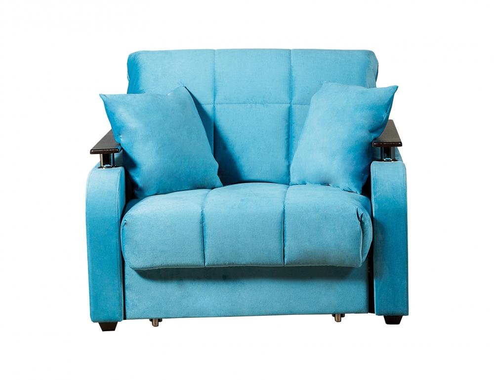 Неаполь 086 диван-кровать 1а 80 С68/Б88/П00 245бирюза - 1