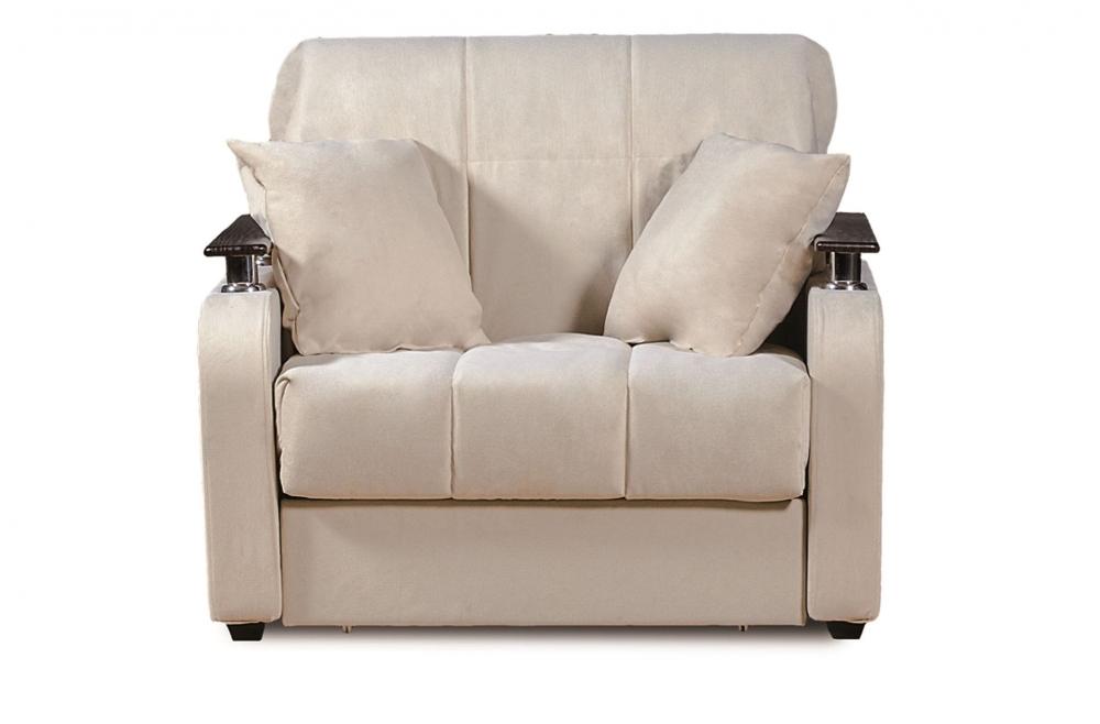 Неаполь 086 диван-кровать 1а 80 С68/Б88/П00 43беж - 1