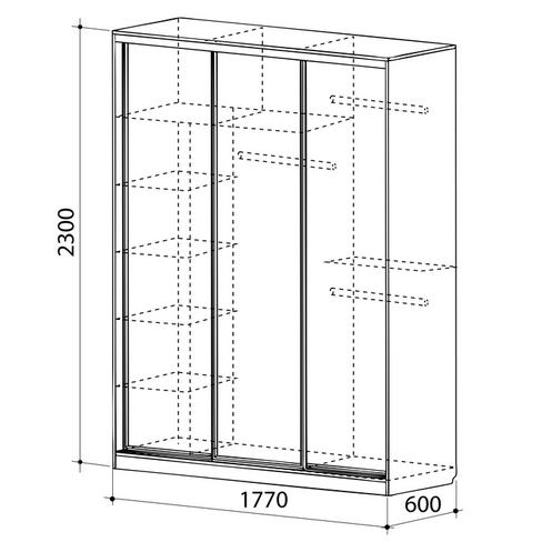 Бассо 3-600 шкаф-купе - 2