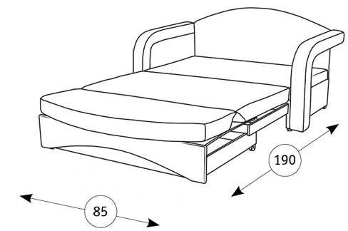Антошка 85 кресло-кровать - 2