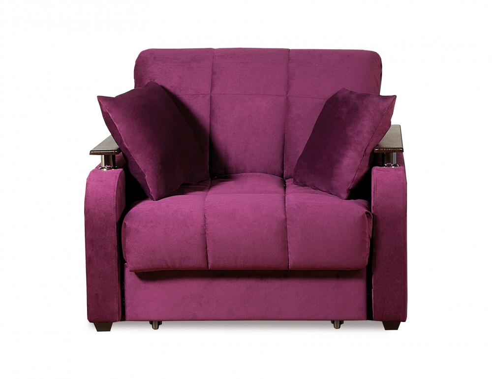Неаполь 086 диван-кровать 1а 80 С68/Б88/П00 244 фиолет - 1