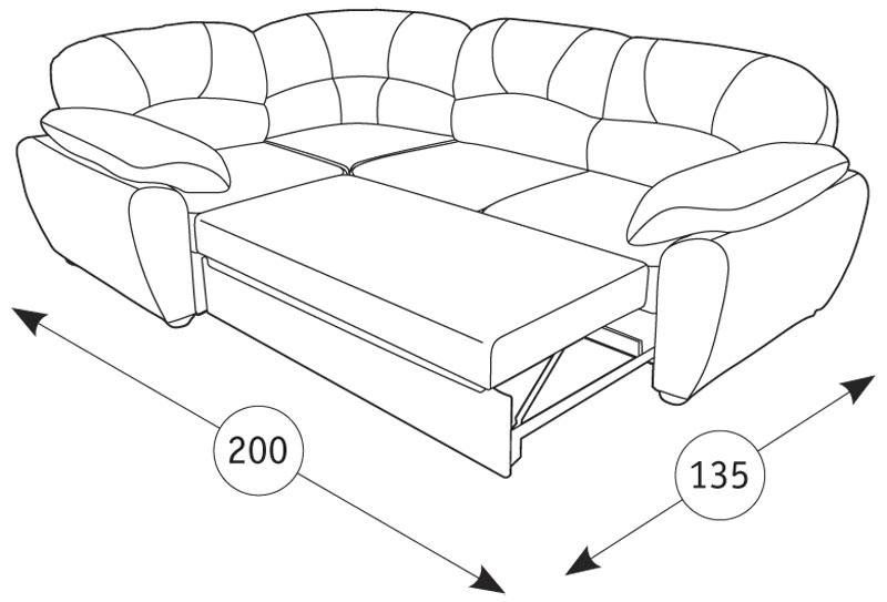 Фламенко диван угловой - 1