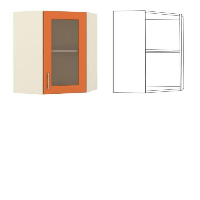 Сандра Шкаф навесной угловой с витриной
