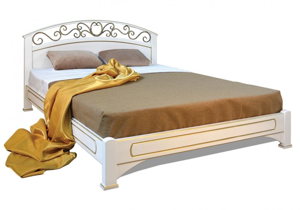 Омега Люкс (КАМЕЛИЯ) кровать без спинки в ногах