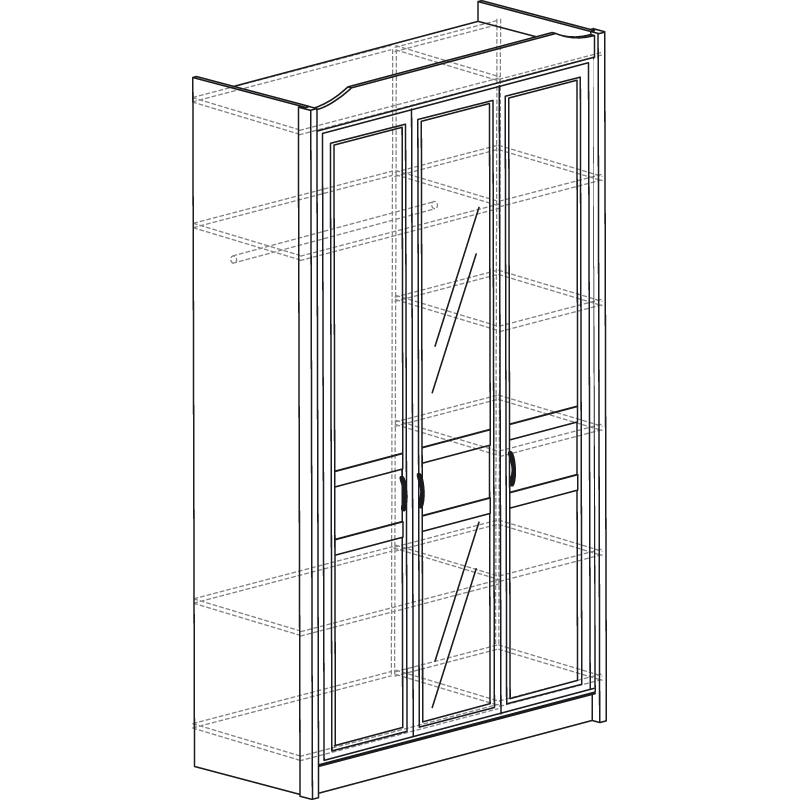 Леон  530 Шкаф 3-дверный