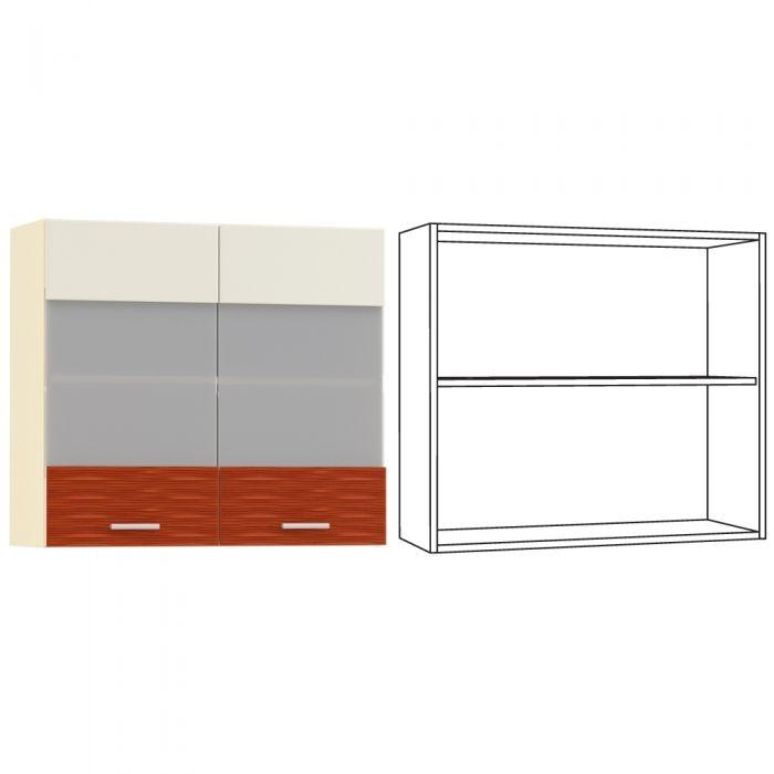 Жанна Шкаф навесной 800 2 витрины