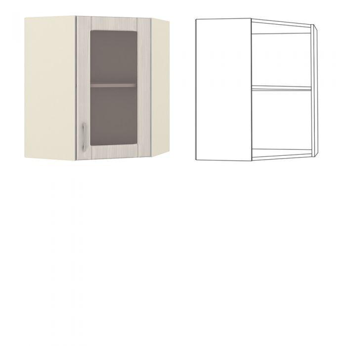 Катрин Шкаф навесной угловой с витриной
