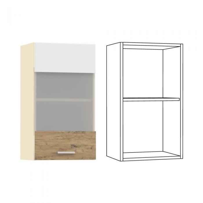 Адель Шкаф навесной 400 витрина