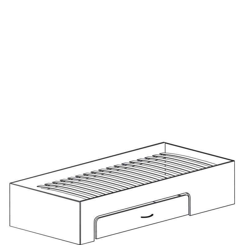 Колумб 712 Кровать 1сп 900 (без спинки) с ящиком