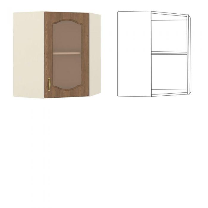 Сильвия Шкаф навесной угловой с витриной