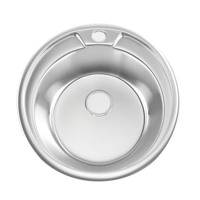 Мойка врезная 510 0,8 180 с сифоном круглая