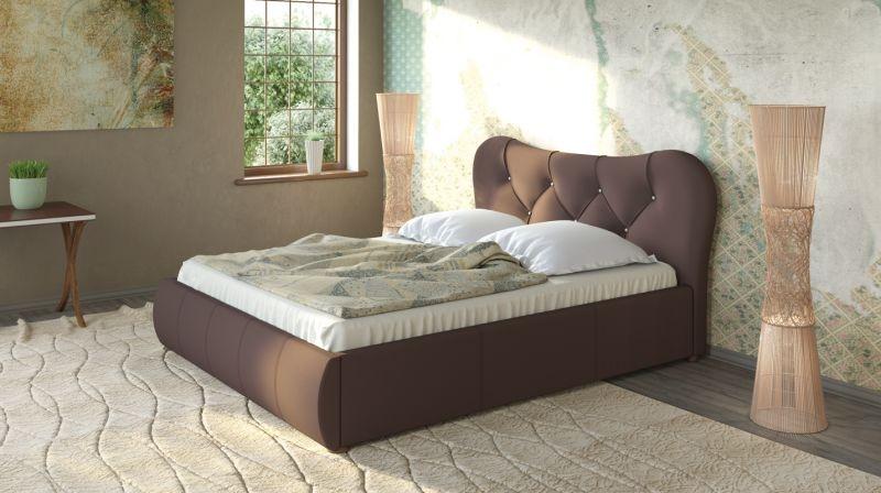 Лавита 253 160 Кровать коричневая