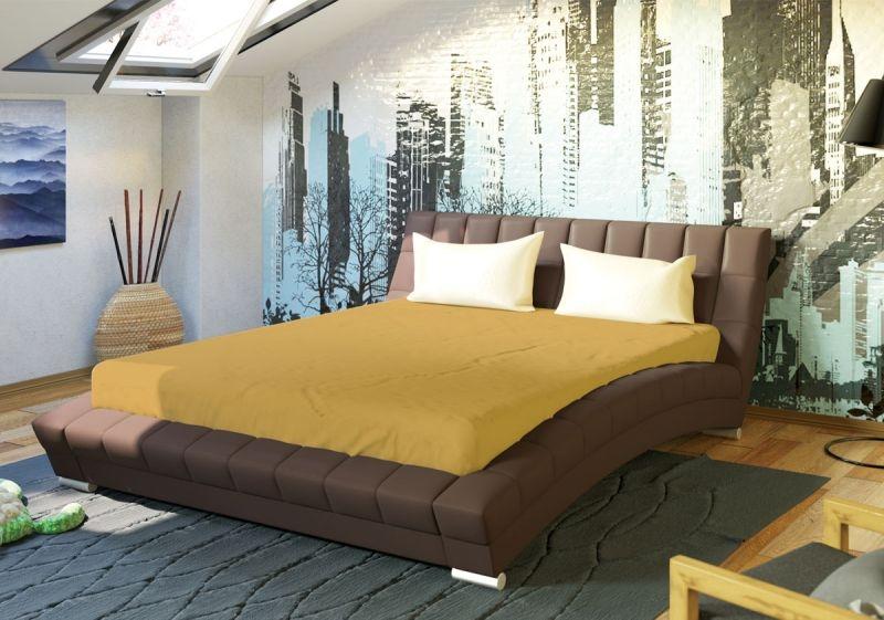 Оливия 160 Кровать коричневая