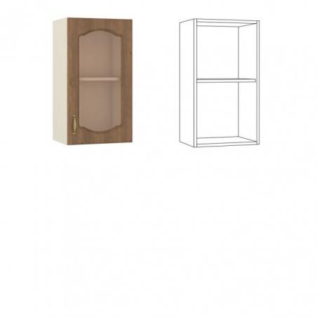 Сильвия Шкаф навесной 40 с витриной - 18609