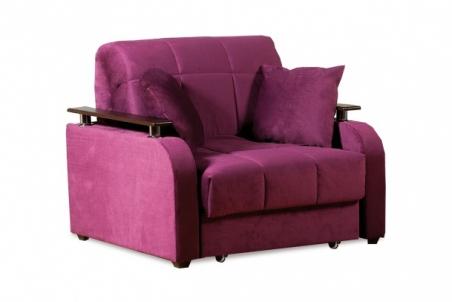 Неаполь 086 диван-кровать 1а 80 С68/Б88/П00 244 фиолет - 19328