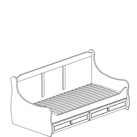Леон  544 Кровать с ящиками - 18169