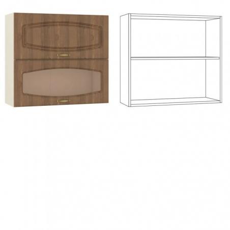 Сильвия Шкаф навесной 80 гориз. 1 дверь + 1 витрина - 18594