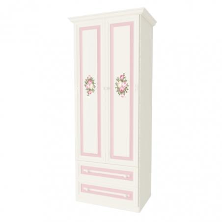 Алиса шкаф 2х створчатый с ящиками - 18939
