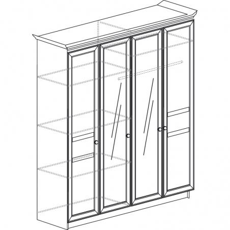 Инна 624 Шкаф 4-дверный - 18637