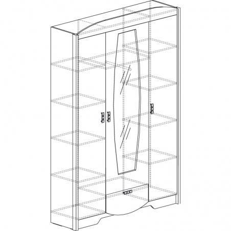 Мадрид 760 Шкаф 3-дверный - 18216