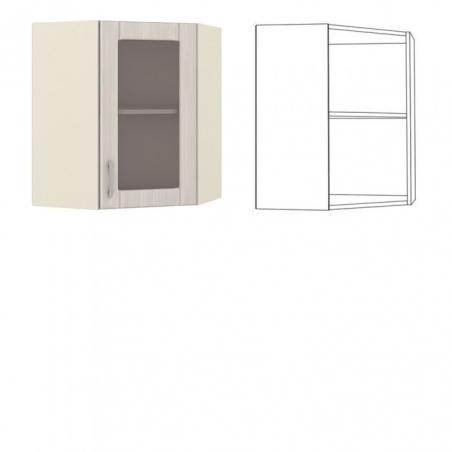 Катрин Шкаф навесной угловой с витриной - 18509