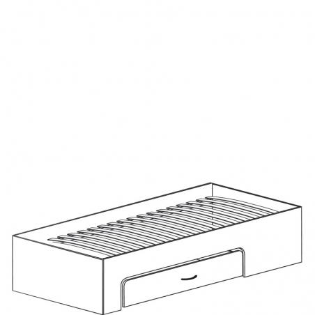 Колумб 712 Кровать 1сп 900 (без спинки) с ящиком - 18211