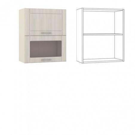 Катрин Шкаф навесной 60 1 дверь +1 витрина - 18516
