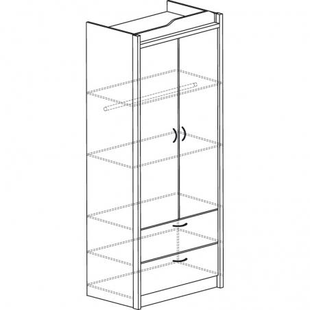 Колумб 701 Шкаф 2-дверный - 18206