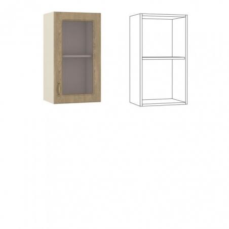 Эмили Шкаф навесной 40 с витриной - 18564