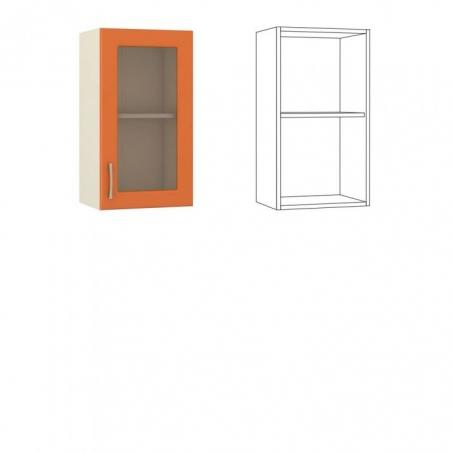 Сандра Шкаф навесной 40 с витриной - 18488
