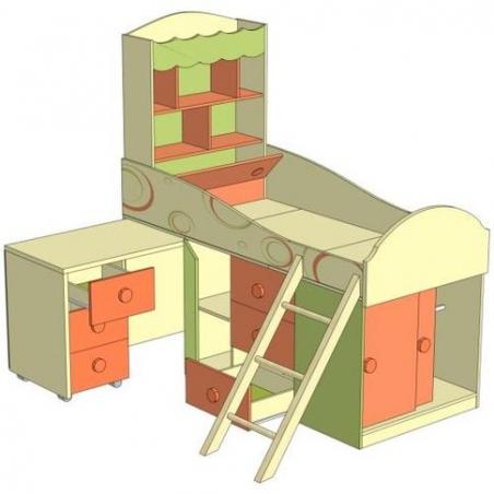 Фруттис ЛД 503.010.000 кровать комбинированная со столом - 17608