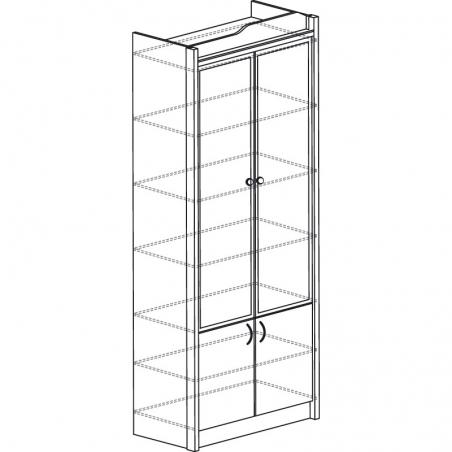 Колумб 708 Шкаф для книг (высокий) - 18205