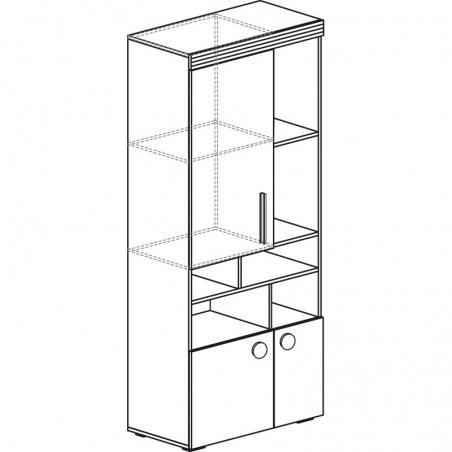 Индиго 745 Шкаф многоцел. назн. - 18193