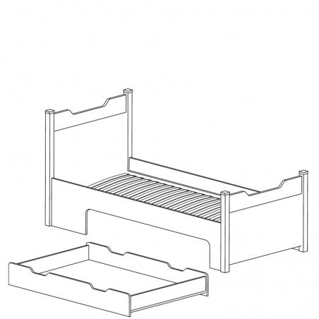Мадрид 771 Кровать одинарная с ящиком - 18223