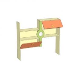 Фруттис ЛД 503.110.000 надстройка к письменному столу с часами