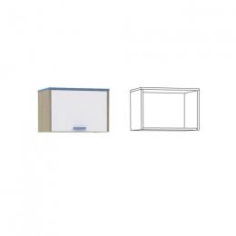 Гольф Шкаф навесной 1, Голубой Металл/Белый матовый