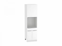 Фьюжн 600 Шкаф пенал под бытовую технику с дверцами и 1-м ящиком Белый/Белый