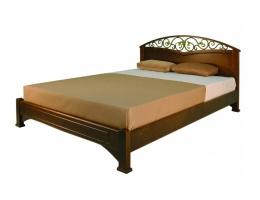 Омега Люкс (Феникс) кровать 140х200 орех