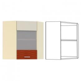 Жанна Шкаф навесной угловой витрина
