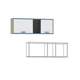 Гольф Полка 2, Голубой Металл/Белый матовый