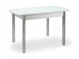 Чикаго СТ (6191) стол, ноги прямые хром Белый