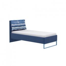 Гольф Кровать, Голубой Металл/Белый матовый