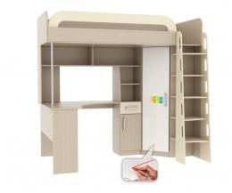 Мультиплекс кровать-чердак со столом (фасад маркерный)