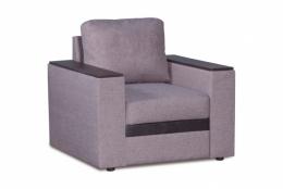 Версаль 218.05 кресло 1х 173 серый/коричневый