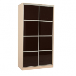 Рио 2-600 шкаф-купе Дуб молочный/коричневый