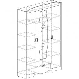 Мадрид 760 Шкаф 3-дверный
