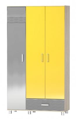 Шкаф трехстворчатый «Алешка» МДФ Дюны